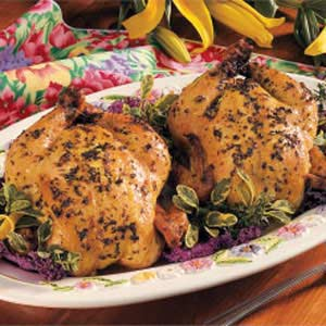 Herb-Roasted Game Hens Recipe