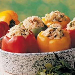 Salmon Stuffed Peppers Recipe