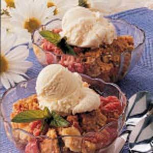 Easy Baked Rhubarb Dessert Recipe