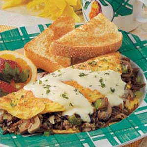 Wild Rice Mushroom Omelet Recipe