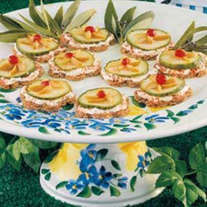Olive-Cucumber Finger Sandwiches Recipe