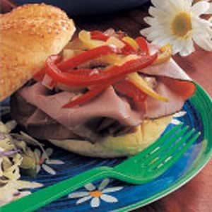 Pepper-Topped Beef Sandwiches Recipe