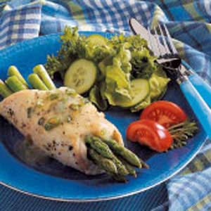 Chicken and Asparagus Bundles Recipe