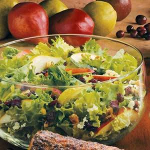 Cranberry-Pear Tossed Salad Recipe
