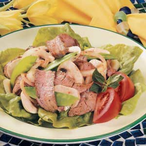 Snow Peas and Beef Salad