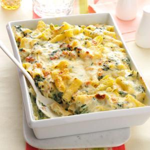 Creamy Spinach & Rigatoni Bake Recipe