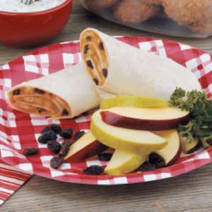 Banana Raisin Wraps Recipe