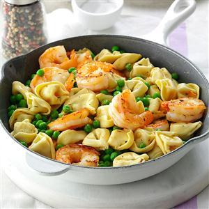 Shrimp Tortellini Pasta Toss Recipe