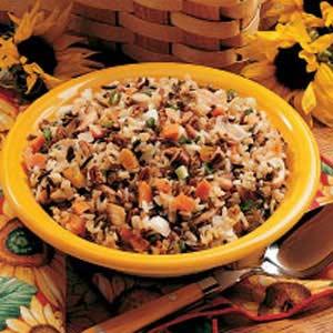Three-Rice Pilaf Recipe
