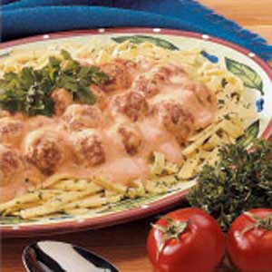 Meatball Stroganoff with Noodles Recipe