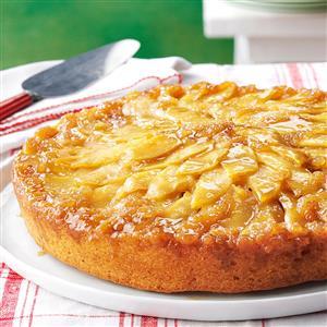 Gingered Apple Upside-Down Cake Recipe