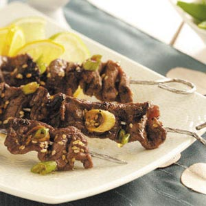 Skewered Ginger Beef Recipe