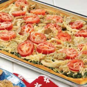 Chicken-Pesto Pan Pizza Recipe