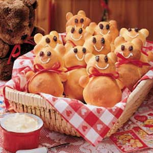 Teddy Bear Rolls Recipe