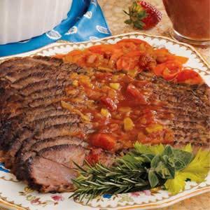 Brisket with Chunky Tomato Sauce Recipe