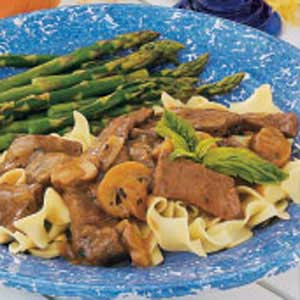 Simmered Sirloin with Noodles Recipe