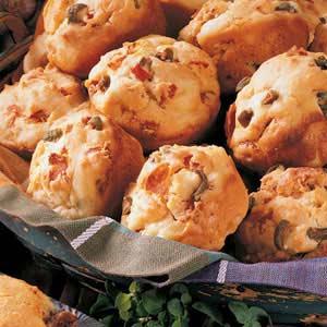 Olive Pepperoni Snack Muffins Recipe
