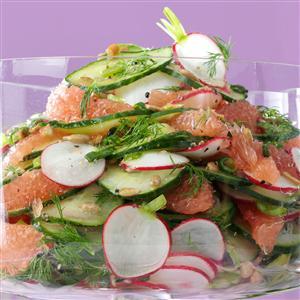Radish, Cucumber and Grapefruit Salad Recipe