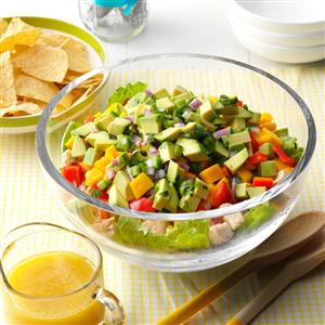 Tropical Layered Chicken Salad Recipe
