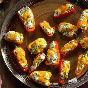 Broccoli & Chive-Stuffed Mini Peppers Recipe