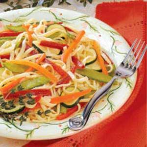 Colorful Linguine Salad Recipe