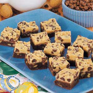 Two-Tone Fudge Brownies Recipe