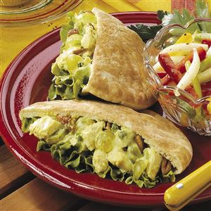 Curried Chicken Pitas Recipe