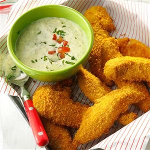 Tuscan Chicken Tenders with Pesto Sauce Recipe