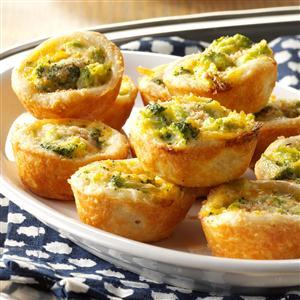 Broccoli-Cheddar Tassies Recipe
