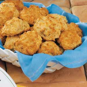 Swiss Onion Drop Biscuits Recipe
