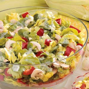 Red Pepper Salad with Parsley Dressing Recipe
