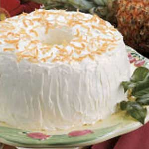 PineappleCoconut Angel Food Cake Recipe Taste of Home