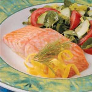 Caesar Salmon Fillets Recipe