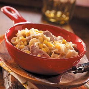 Pork Noodle Casserole with Corn Recipe