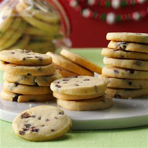 Lime Shortbread with Dried Cherries Recipe