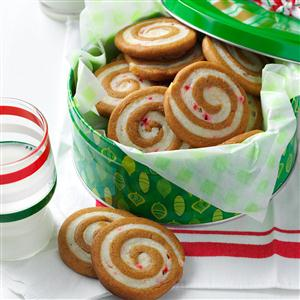 Gingerbread Peppermint Pinwheels Recipe