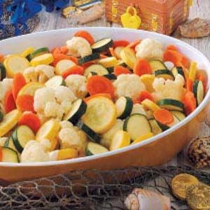 Colorful Veggie Coins Recipe