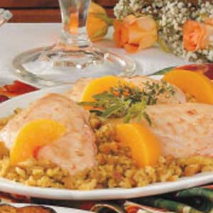 Chicken with Peach Stuffing