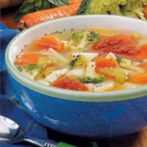 Potluck Chicken Vegetable Soup Recipe