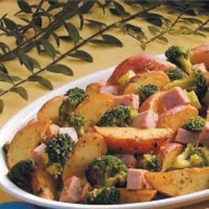 Garlic Potatoes and Ham Recipe