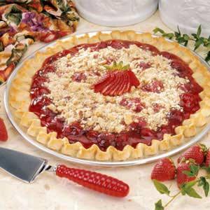 Streusel Strawberry Pizza Recipe