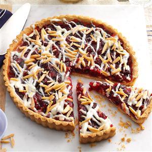 White Chocolate Cranberry Almond Tart Recipe
