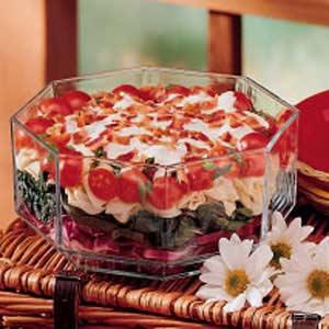 Layered Spinach Salad Recipe