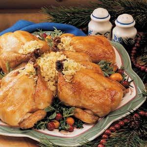 Orange-Glazed Cornish Hens Recipe