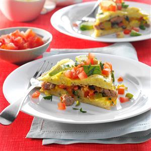 Turkey, Apple & Vegetable Omelet Recipe