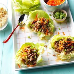 Orange Beef Lettuce Wraps Recipe