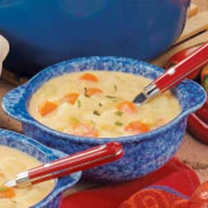 Cheesy Cheddar Vegetable Soup Recipe