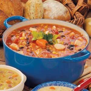 Southwestern Chicken Barley Soup Recipe