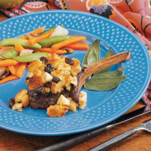 Stuffing-Topped Venison Chops Recipe