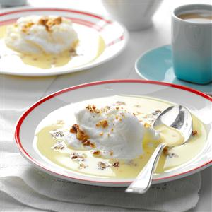 Meringue Snowballs In Custard Recipe